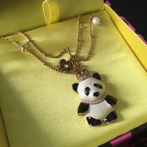 Betsey Johnson Queen Panda tiered necklace